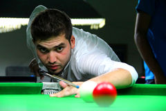 Snooker-Spieler stockbild