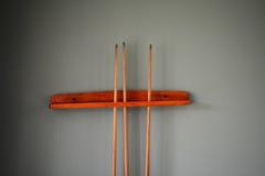 Snooker Sticks stock image