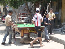 Snooker on the street Royalty Free Stock Photos