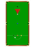 Snooker Table. An aerial illustration of a snooker table and it's layout Royalty Free Stock Photo