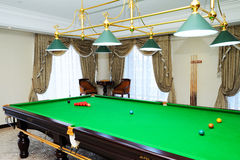 Snooker table. In a Presidential Suite stock photography