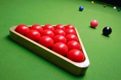 Snooker table. Pic taken at KM snooker club, Skopje, Macedonia Stock Photo