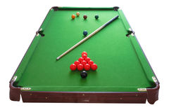 Snooker table. Image of a snooker table isolated on a white background Royalty Free Stock Photography