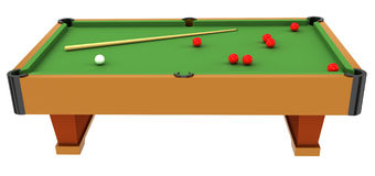 snooker table Royaltyfria Bilder