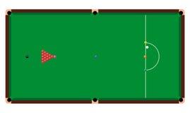 Snooker Table. Vector illustration of a snooker table Stock Photos