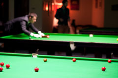 In the snooker's club Royalty Free Stock Photo
