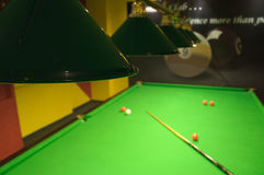 Snooker table in a club Royalty Free Stock Images