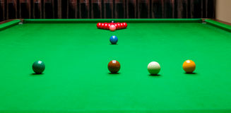 Snooker table opening frame Royalty Free Stock Image