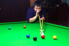 Snooker. Table placed the ball to the competition royalty free stock photo