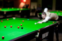 The snooker's club Royalty Free Stock Photo