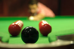 Snooker trickshot Stock Images