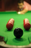 Snooker trickshot Royalty-vrije Stock Foto