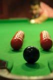 Snooker trickshot royalty-vrije stock foto