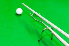 Snooker uitgebreide spin royalty-vrije stock fotografie