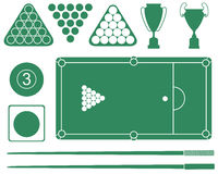 Snooker. Vector illustration (EPS 10 Stock Images