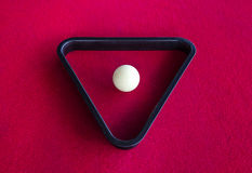 Snooker white ball in triangle Stock Photos