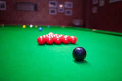 Snooker zwarte bal royalty-vrije stock afbeeldingen