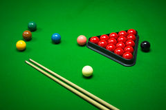 Snookerbälle eingestellt Stockbilder