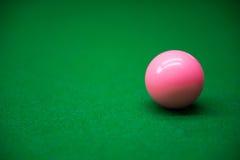 Snookerbal op groene lijst 3 Royalty-vrije Stock Foto