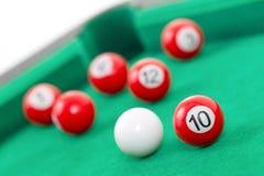 Snookerballen Stock Foto