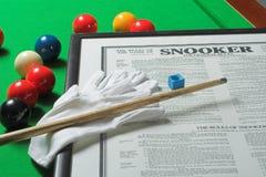 Snookerbildschirmanzeige Stockbilder