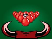 Snookerboll på tabellen Arkivbilder