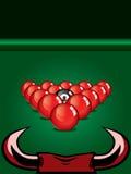 Snookerboll på tabellen Royaltyfri Bild