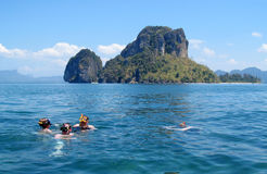 Snookering in Krabi Beaches and Islands Thailand Stock Photos