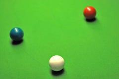 Snookerkugeln Stockfoto