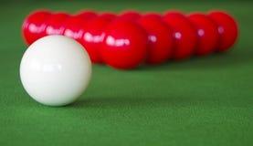 Snookerlijst Stock Foto