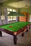 Snookerlijst Stock Foto's