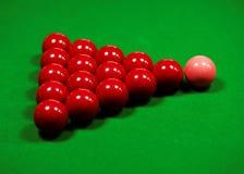 Snookerlijst Stock Afbeeldingen