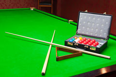 Snookerreeks royalty-vrije stock foto