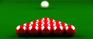 Snookerrotkugeln. Lizenzfreie Stockfotos