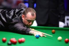 Snookerspeler, Mark Williams royalty-vrije stock afbeelding