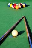 Snookertabelle Stockbild