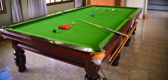 Snookertisch Stockbild