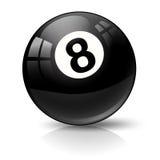 Snookeru basenu piłka osiem Obrazy Stock