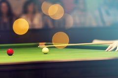 Snookeru gracz zdjęcia royalty free