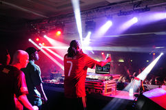 Snoop Dogg - American Singer and DJ. American musician and DJ Snoop Dogg performing at Seven, a portuguese nightclub in Vilamoura, Algarve. That night, the Royalty Free Stock Photos