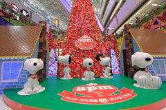 Snoopy christmas decoration in APM Hong Kong Stock Photos