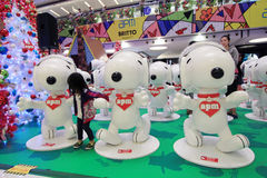 Snoopy christmas decoration in APM Hong Kong Stock Photography