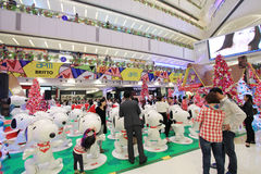 Snoopy christmas decoration in APM Hong Kong Royalty Free Stock Photography