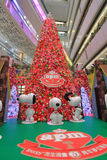 Snoopy christmas decoration in APM Hong Kong Royalty Free Stock Images
