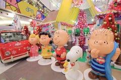 Snoopy Dekoration APM Weihnachtsin Hong Kong Lizenzfreies Stockbild