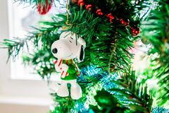 A Snoopy Christmas royalty free stock photography