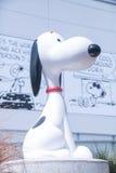 Snoopymuseum in Tokyo Japan op 30 Maart, 2017 | Mooie beeldverhaal model gelukkige hond Stock Foto's