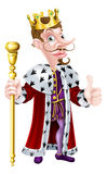Snooty Cartoon King Stock Photo