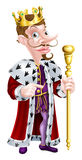 Snooty King Pointing Cartoon Royalty Free Stock Photography