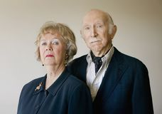 Snooty Senior Couple Royalty Free Stock Image